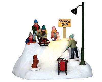 """Lemax Christmas valley Led """" Sleigh ride """" Ready To Launch battery powered"""