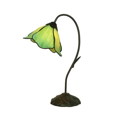 Lotus Green Tiffany Style Bed / Table Lamp Lead Light -Will Ship Australia Wide