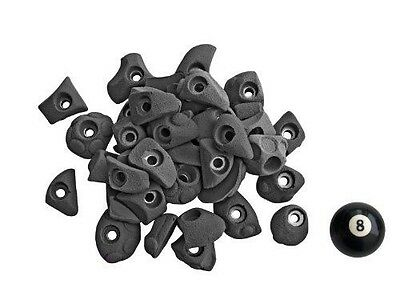 Atxarte Bolt-On Feet Climbing Holds, Black