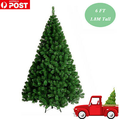 Green Christmas Tree 6FT 1.8M Lush 1200 Tips Metal Stand Easy Assembly