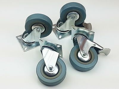 4 x 3''CASTOR WHEEIS, 4 x SWIVEL,(2 with Brake)NYLON RUBBER CASTERS, NON-MARKING