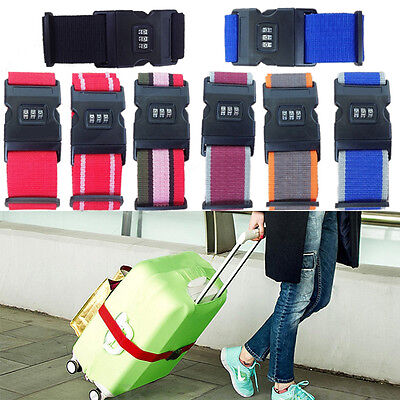 Adjustable Personalise Luggage Suitcase Safe Belt Strap Travel Baggage Tie Lock