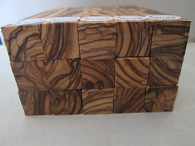 "15 Bethlehem Olive Wood Pen Turning  Blanks ""100% GRAINS ALL AROUND THE 4 SIDES"""