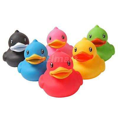 Multicolored Baby Rubber Sqeeze-sounding Dabbling Ducks Bath Time Toy Gift 6