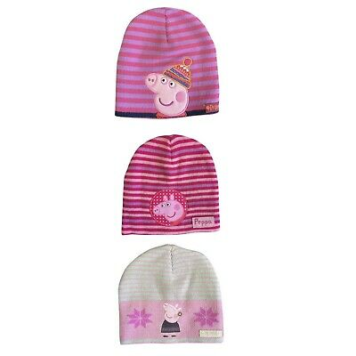 Peppa Pig Winter Knitted Hats Hat Gloves And Scarf Set Boys Girls NEW