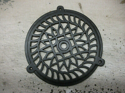 """LARGE ROUND CAST IRON AIR VENT - AIR BRICK - GRILLE COVER 8"""" 1/8 or 205mm"""