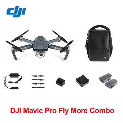DJI Mavic Pro FPV RC Drone 4K Camera+Fly More Combo CASE Charger+2 Extra Battery