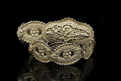 Antique Original Perfect Full Silver Ottoman Islamic Anatolian Belt