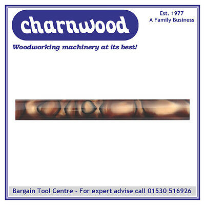 CHARNWOOD Woodturning AR21 Round Acrylic Pen Blank Coffee with Black Swirl