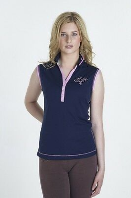 Just Togs Ladies Charlotte Sleeveless Polo Top