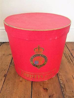 large Christys top hat tall vintage hat box millinery prop shop display