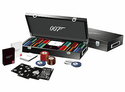 OFFICIAL JAMES BOND 007 LUXURY 300 CHIP POKER SET Card Games Xmas Gift Black Fri
