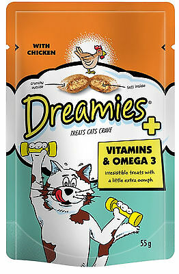 Dreamies Cat Treats 55g VItamins & Omega 3