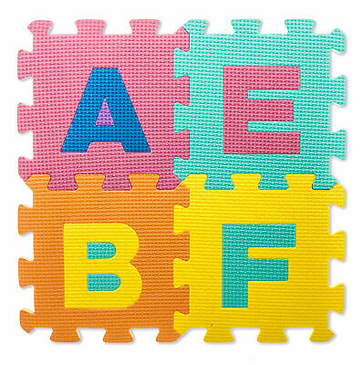 Kids Giant Alphabet Foam Floor Mat Childrens Colourful Play Numbers Puzzle