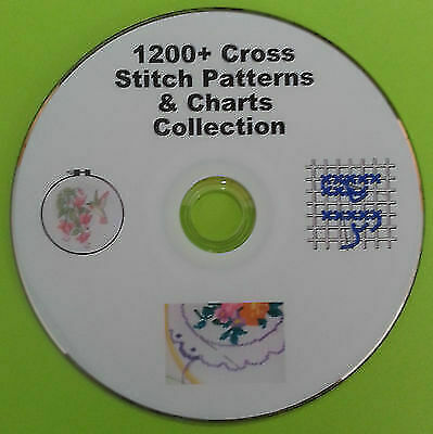 1200+ Cross Stitch Charts & Patterns Collection On DVD