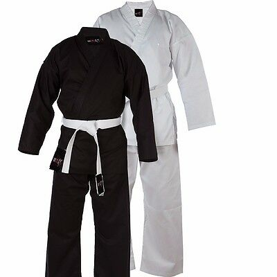 Karate Suit  Martial Arts Uniform With Free Belt   (All Sizes in Black/White)
