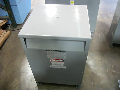 Square D 37.5Kva 1Ph Transformer 37S3H Hv 240X480 Lv 120/240