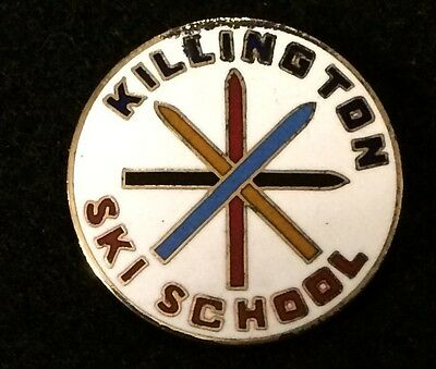 KILLINGTON SKI SCHOOL Skiing Pin Badge VERMONT VT Resort Souvenir Travel