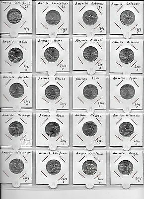 USA STATE QUARTERS, DC & US Territories 1999-2010 COLLECTION OF 97 DIFFERENT....