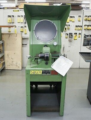 """COVEL 14"""" Optical Comparator 10x Lens 6"""" x 13"""" Stage Model 14"""