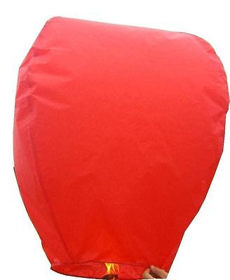 10x RED Square Flying Sky Lantern Khoom Fay Chinese Wedding Party Ice Candle