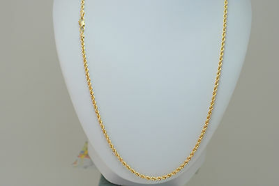 10K gold 20 inches rope chain