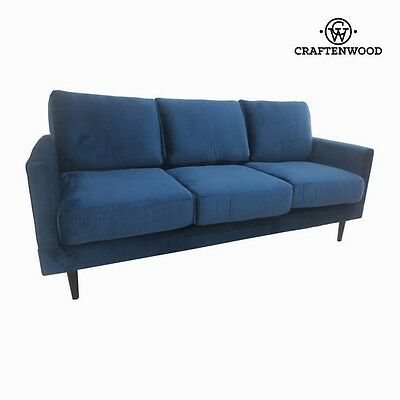 Vintage 3 Seater Sofa Blue Cos Retro Canape - New 2017 Collection By CraftenWood