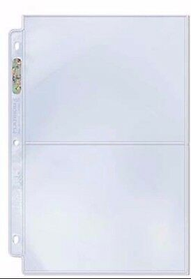 Ultra Pro 2 Pocket Platinum Series Banknote Photo Stamp Pages X 10