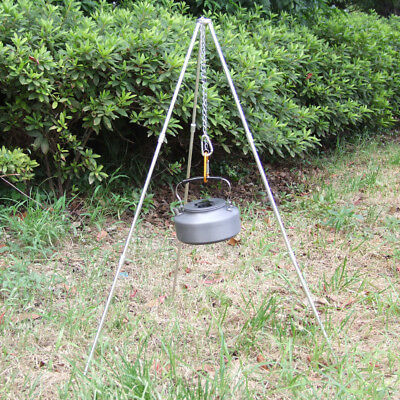 Tripod Stand Chain Campfire Camping Cooking Dutch Oven BushCraft Tent BBQ