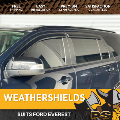 Superior Weathershields for Ford Everest Window Visors Weather Shields
