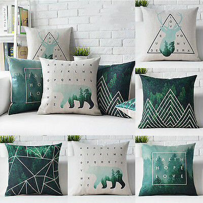 Creative Animal Deer Cotton Linen Square Pillow Cases Throw pillow Cushion Cover