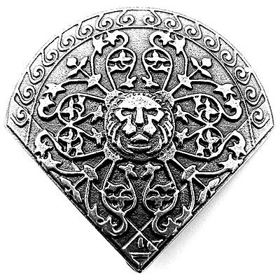 8 pcs LION-HEART XL CONCHO AS Conchos Rivet Viking Wolf Pin Leather Crafters