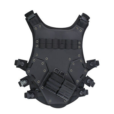 Military Tactical Vest Wargame Paintball Airsoft Combat SWAT Cosplay Black Tan
