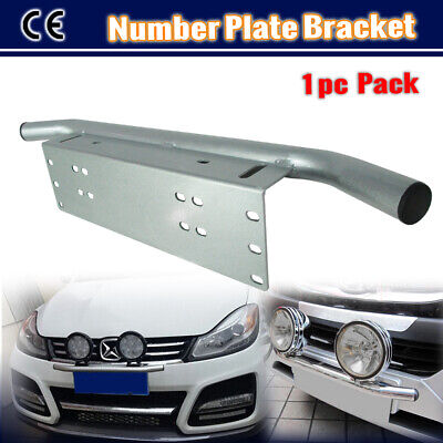 Bumper License Number Plate Holder Bar LED Spot Light Bar Mounting Bracket Frame