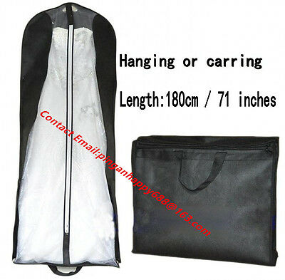 Wedding Dress Prom Evening Gown dress Garment Bag Dust Cover Storage Travel Bag