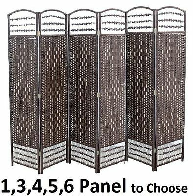 Partition Folding Room Divider Separator Privacy Screen Panel Brown Gift 3 4 5 6