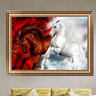 5D Diamond Horse Steed Embroidery Painting Cross Stitch Kit DIY Home Decor Craft