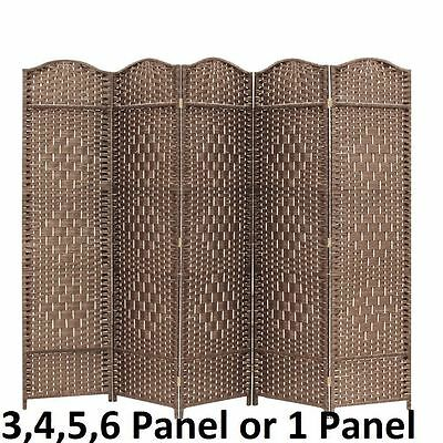 Partition Folding Room Divider Separator Privacy Screen Panel Brown Gift 3 4 ...