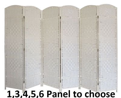 Partition Folding Room Divider Separator Privacy Screen Panel Cream Gift 3 4 5 6