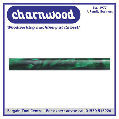 CHARNWOOD Woodturning AR30 Round Acrylic Pen Blank Dark Green with Black Swirl