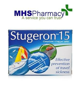 Stugeron Tablets Travel Sickness - 15 Tablets