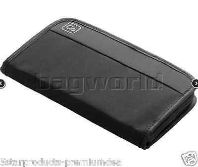 New Go Travel Wallet Black Passport Documents Credit Cards Id Cash Organiser