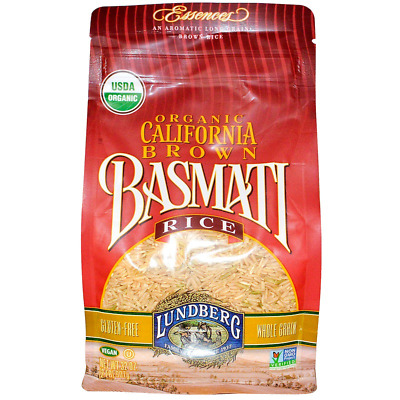 New Lundberg Essences Organic California Brown Basmati Rice Whole Grain Vegan