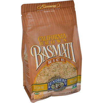 New Lundberg Organic California Brown Basmati Rice Gluten Free Vegan Daiily Food