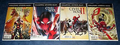 AMAZING SPIDER-MAN CIVIL WAR II #1 2 3 4 1st print set MARVEL COMICS 2016 NM NEW