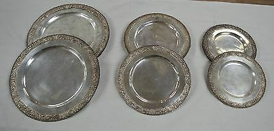 16 Vintage Sterling Silver Plates Mexico