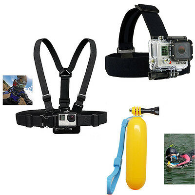 Sport Head Chest Mount Monopod Accessories Kit For GoPro Hero 2 3 4 5 Camera