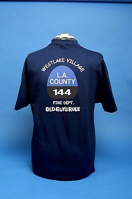 Los Angeles County Fire Department 144's Old Guys Rule Shirt