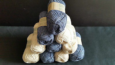 10 Balls Sirdar Simply Recycled Cotton Knitting Wool Yarn lot 107