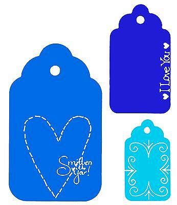 Sizzix Scallop Tags Combo #2 large die #654991 Retail $15.99 RARE, Retired!!